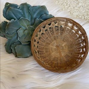 Small trinket wicker basket for wall or goodies